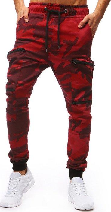 BASIC Pánské červené maskáčové kalhoty (ux1254) velikost  M  3223360901