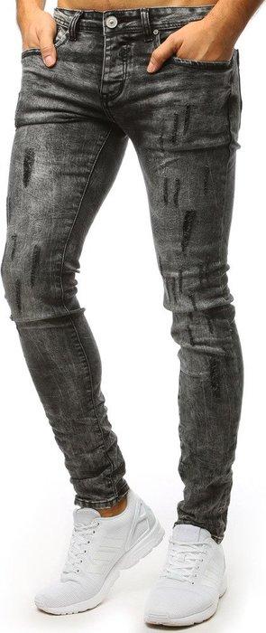 7fce0000aba BASIC Šedé potrhané džíny (ux1500) velikost  28