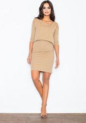 7722798b8f6c Figl FIGL Béžové šaty s asymetrickým topem - M206 velikost  L. 729 Kč ·  LondonClub.cz