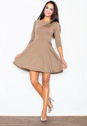 0626de7d96ab Figl FIGL Mocca šaty s 3 4 rukávy M081 velikost  L