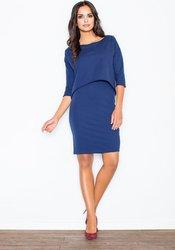 b56ab64abd4f Figl FIGL Modré šaty s asymetrickým topem - M206 velikost  L. 729 Kč ·  LondonClub.cz
