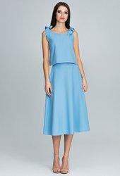 7509a28b7db Figl FIGL Set elegantní sukně a top M578 Blue velikost  S