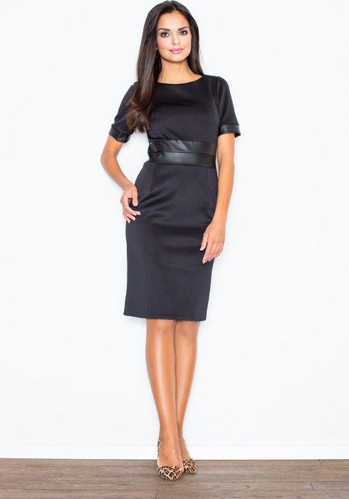 FIGL Černé pouzdrové šaty - M204 velikost  L  643653aa3c