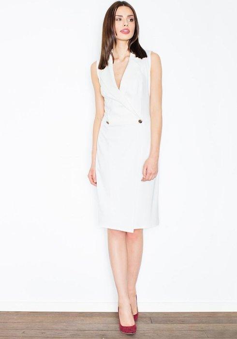 FIGL Dámské elegantní šaty ve smetanové barvě M443 velikost  L ... 02da55f593