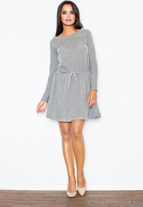 8e0a2a0e91bc FIGL Tmavě šedé bavlněné šaty M334 Dark grey velikost  L