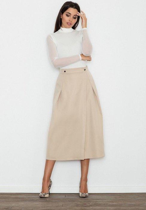 FIGL Velká béžová skládaná sukně M554 velikost  S  588b289619