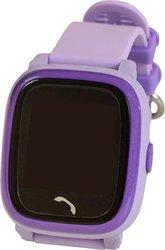 322567130 Helmer Chytré dotykové vodotěsné hodinky s GPS lokátorem a SIM kartou  GoMobil s kreditem 50 Kč LK 704 fialové