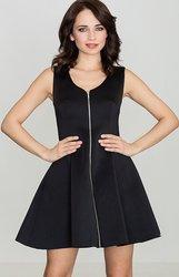 LENITIF Dámské černé šaty bez rukávů K255 velikost  L 4180b3bf08