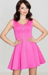 LENITIF Dámské fuchsiové šaty bez rukávů K255 velikost  L 4b8cb07f31