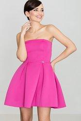 LENITIF Dámské elegantní fuchsiové šaty K243 velikost  L  8c7f3181f41