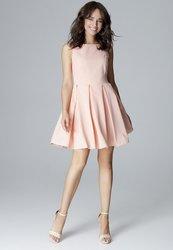 89d03f786d59 LENITIF Růžové šaty bez rukávů L006 velikost  S