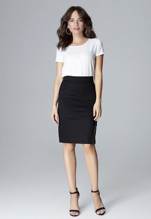 LENITIF Černá sukně s rozparkem L011 velikost  S  7bc0273c15
