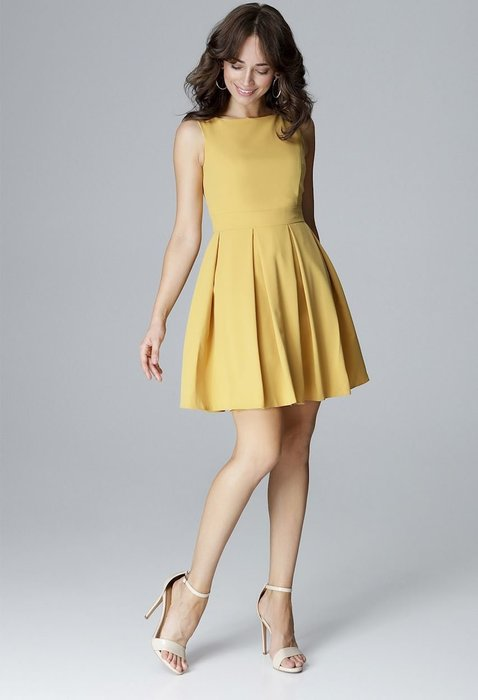 ... LENITIF Žluté šaty bez rukávů L006 velikost  S. + 2 další 2de32b9fd6