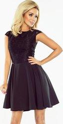 Numoco NUMOCO Dámské černé elegantní šaty s krajkou 157-2 velikost  M 3f04821c354
