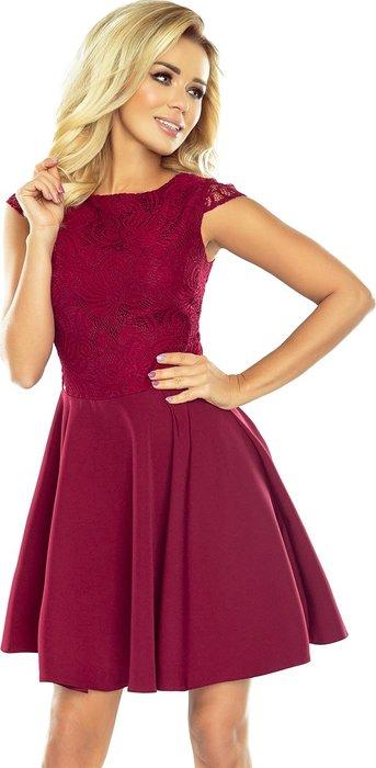NUMOCO Dámské červené elegantní šaty s krajkou 157-3 velikost  S ... f769afa365