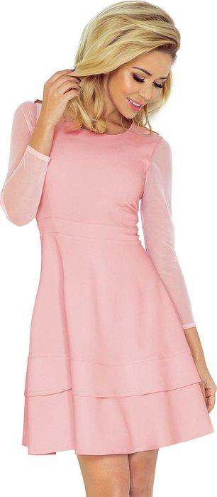 NUMOCO Elegantní růžové šaty 141-7 velikost  XS  8994adf7b1b